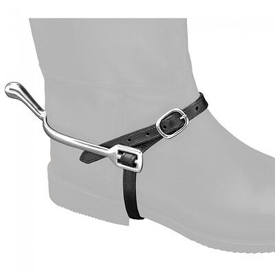 EquiRoyal Leather Spur Straps - Black - NWT