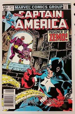 CAPTAIN AMERICA 277 - Signed by Mike Zeck - 9.0 - COA