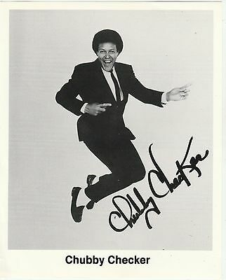 CHUBBY CHECKER  Hand Signed Autographed 8 X10 PHOTO W/COA