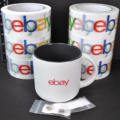 eBay 9 Item Lot Coffee Mug Branded BOPP Tape Logo Italian Charms Zoppini 2003
