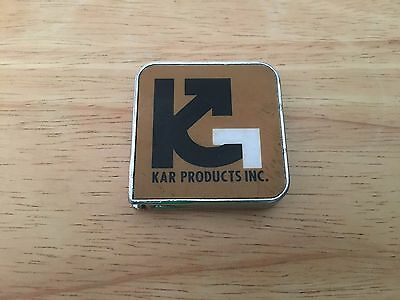 Vintage KAR PRODUCTS INC. Tape Measure Advertising