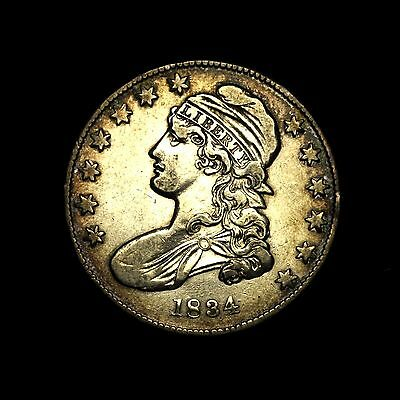 1834 ~**CHOICE XF**~ Silver Capped Bust Half Dollar Antique US Old Coin! #287