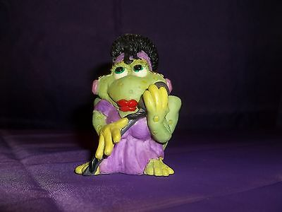 1994 Sprogz Frog Wearing Dress & Holding Microphone