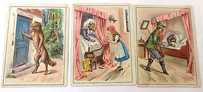 3 Victorian Trade Cards Red Riding Hood Kirkman's Soap
