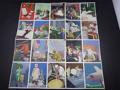 *              COCA COLA uncut sheet 1943 CARDS- HISTORICAL 20 CARDS