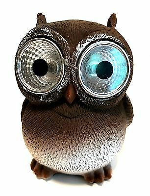 Small Solar Owl with Big LED Eyes Indoor Outdoor Light 3 3/4 inches Tall
