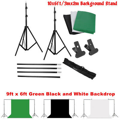 Photo Studio10X6ft Background Photography Kit Support System Backdrop Stand Set