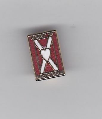 Hearts - small oblong lapel badge