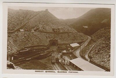 Wales postcard - Oakeley Quarries, Blaenau Festiniog - RP