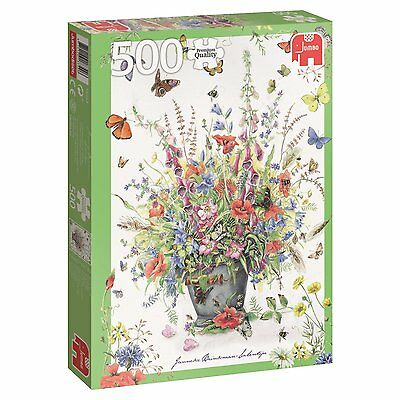 500 Piece Jigsaw Puzzle - Summer Flowers Bouquet - Jumbo Premium Quality 18349