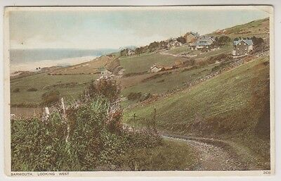 Wales postcard - Barmouth, Looking West