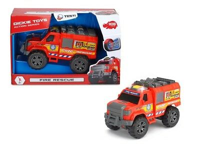 Dickie Toys 203304010 - Action Series - Fire Rescue Mit Licht Und Sound - Neu