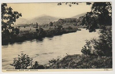 Wales postcard - Abergavenny, Sugar Loaf Moutain
