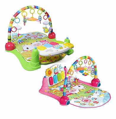 Babies Light & Music 3:1 Baby Activity Piano & Mobile Play Mat Kick Gym 666-10