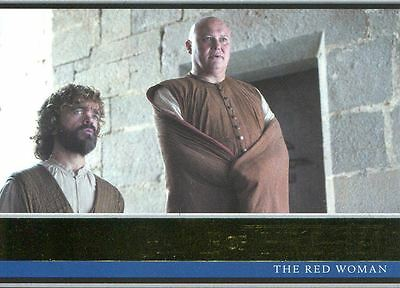 Game Of Thrones Season 6 Gold Base Card #2 The Red Woman