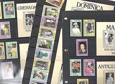 1986 OMNIBUS Issu QEII 60th Birthday COLLECTION 21 Stamps 7 Mini Sheets Re:OR21