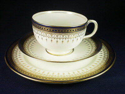 ROYAL DOULTON BLUE & GOLD TRIO c. 1909+