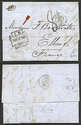 25th Oct 1851 entire to France.