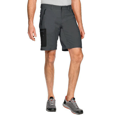 Jack Wolfskin 2017 Mens Active Track Sofshell Walking Hiking Outdoor Shorts