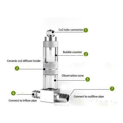 Aquarium CO2 Atomizer Reactor System Diffuser For Plant Tank With Bubble Counter