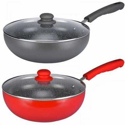 Durastone 28cm Induction Non-Stick Ceramic Asian Oriental Cooking Wok Frying Pan