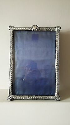"""Beautiful &enormous 16.5"""" X 11.5"""" Antique Chester Silver Mirror Or Photo Frame"""