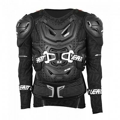 New L/XL Adult Leatt 5.5 Body Armour Protector Black L/XL Motocross Enduro