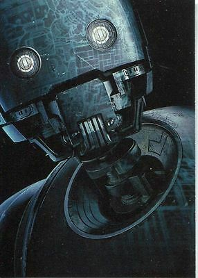 Star Wars Rogue One Series 2 Poster Chase Card 9 K-2SO Character Poster
