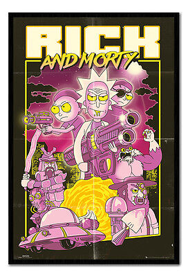 Framed Rick & Morty Action Movie Poster New