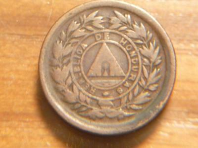 Honduras 1893, 1 Cent, Bronze, F-VF Condition, SKU # 7083