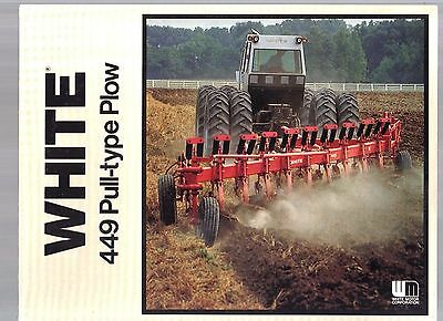 Vintage White Oliver Tractor 449 Pull Type Plow 6 To 10 Bottom Brochure