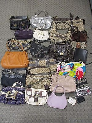 COACH 26 Item Lot of Handbags & Wallet - PreOwned / Varied Conditions
