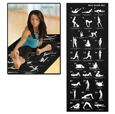 Yoga Mat + Carry Case + Chart Exercise Fitness Workout Physio Pilates Gym