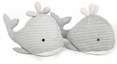 Fabric Seashore Whale Doorstop ~ Nautical Animal Door Stop