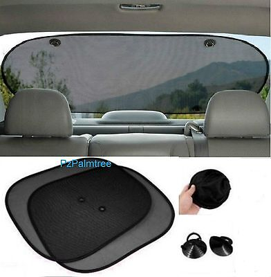 Car Side or Rear Sun Shade Mesh Blind Black Screen Baby Children Dog Universal