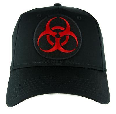 Lethal Red Biohazard Sign Patch Iron on Applique Horror Clothing Zombie Apocalyp