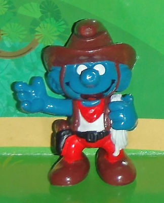 Vintage Cowboy Smurf With A Rope 1981 Smurf Lot