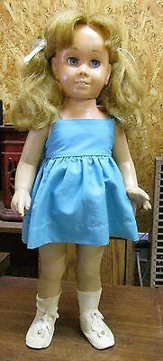 1960's Chatty Cathy Doll Pigtails Blue Eyes Hard Face Does not Talk