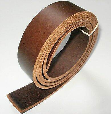 "3.5Mm Thick Italian Brown Veg Tan Leather Hide Belt Blanks 57"" Inch - 145Cm Long"