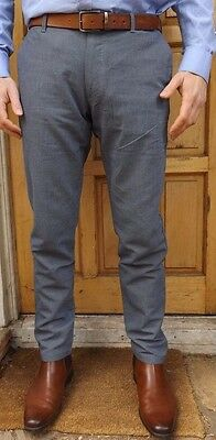 "Men`s New Zara Slim Fit Cotton Summer Trousers Sizes 30-31-32-34-36-38"" Rrp £28"
