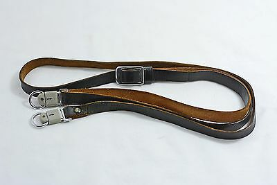 Vintage Leica Leitz Wetzlar Leather Camera Strap With Easy Strap Release Clips