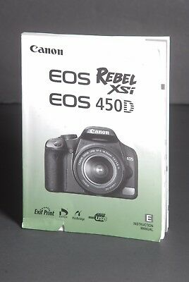 Canon Genuine EOS 450D / XSi Digital Camera Instruction Book / Manual / Guide
