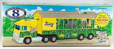 Sunoco Toy Safari Shuttle Truck With Animals Lights and Sound 2001