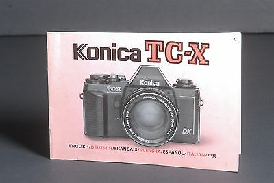 Konica TC-X Camera Instruction Book / Manual / User Guide