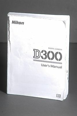 Nikon Genuine D300 Camera Instruction Book / Manual / User Guide