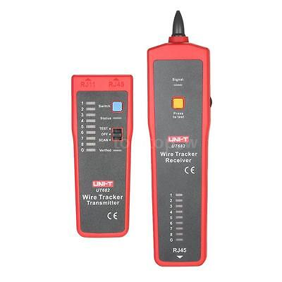 UNI-T UT682 Network Cable Tester Wire Tracker RJ45 RJ11 Cable Testing Tool X4W7