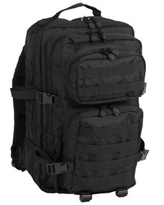 US ASSAULT Outdoor Freizeit DAYPACK pack Rucksack LARGE Black schwarz
