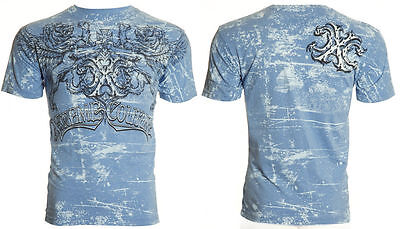 XTREME COUTURE by AFFLICTION Mens T-Shirt CYCLOPS Lions Tattoo Biker MMA UFC $40