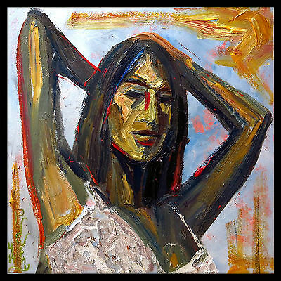 Modern Impressionism Art Signed Realism Oil Pop Painting Abstract Outsider Deco