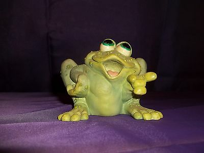 Sprogz Frog Pointing Finger Figurine 1994 HSC A. Hull